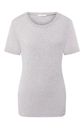 Женская хлопковая футболка MEY серого цвета, арт. 16 016 | Фото 1