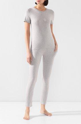 Женская хлопковая футболка MEY серого цвета, арт. 16 016 | Фото 2