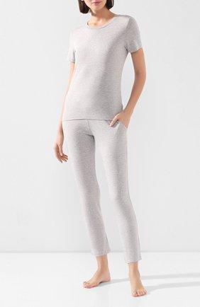Женские хлопковые брюки MEY серого цвета, арт. 16 001 | Фото 2