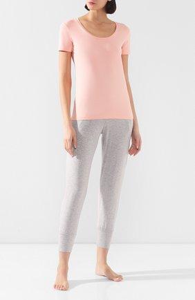 Женская хлопковая футболка MEY светло-розового цвета, арт. 16 824 | Фото 2