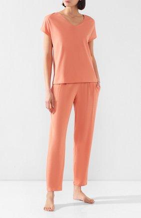 Женская футболка MEY кораллового цвета, арт. 16 304 | Фото 2
