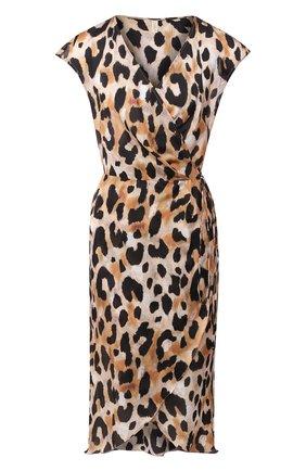 Женское туника из смеси хлопка и шелка GOTTEX леопардового цвета, арт. 20KE341   Фото 1