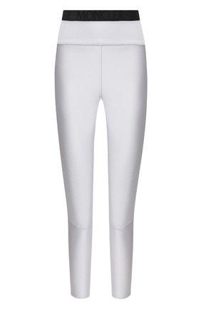 Женские леггинсы MONCLER серебряного цвета, арт. F1-093-8H705-40-C8032 | Фото 1