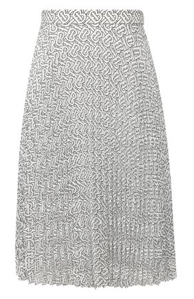 Женская плиссированная юбка BURBERRY черно-белого цвета, арт. 4564351 | Фото 1
