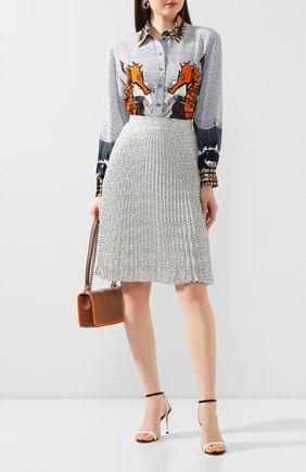 Женская плиссированная юбка BURBERRY черно-белого цвета, арт. 4564351 | Фото 2