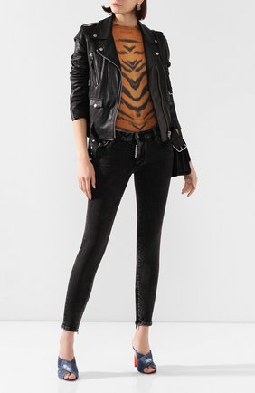 Женские джинсы DSQUARED2 черного цвета, арт. S72LB0270/S30684 | Фото 2