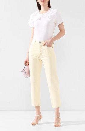 Женская хлопковая футболка REDVALENTINO белого цвета, арт. TR0MG06G/555 | Фото 2