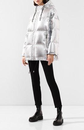 Женский пуховая куртка MICHAEL MICHAEL KORS серебряного цвета, арт. MH92J2580Y | Фото 2