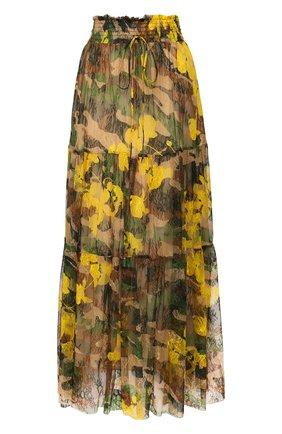 Женская юбка-макси ERMANNO ERMANNO SCERVINO желтого цвета, арт. 46T GN29 STC   Фото 1