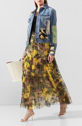 Женская юбка-макси ERMANNO ERMANNO SCERVINO желтого цвета, арт. 46T GN29 STC   Фото 2