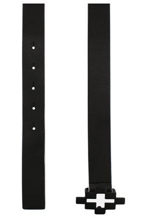 Детский кожаный ремень MARCELO BURLON KIDS OF MILAN черного цвета, арт. 20E/B/MB/9305/0600 | Фото 2