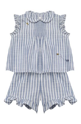 Детский комплект из топа и шорт IL GUFO голубого цвета, арт. P20DP322C1066/12M-18M | Фото 1