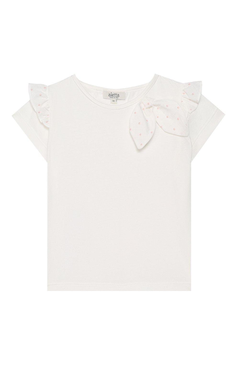 Детский топ ALETTA белого цвета, арт. RW00270B/3A-8A | Фото 1