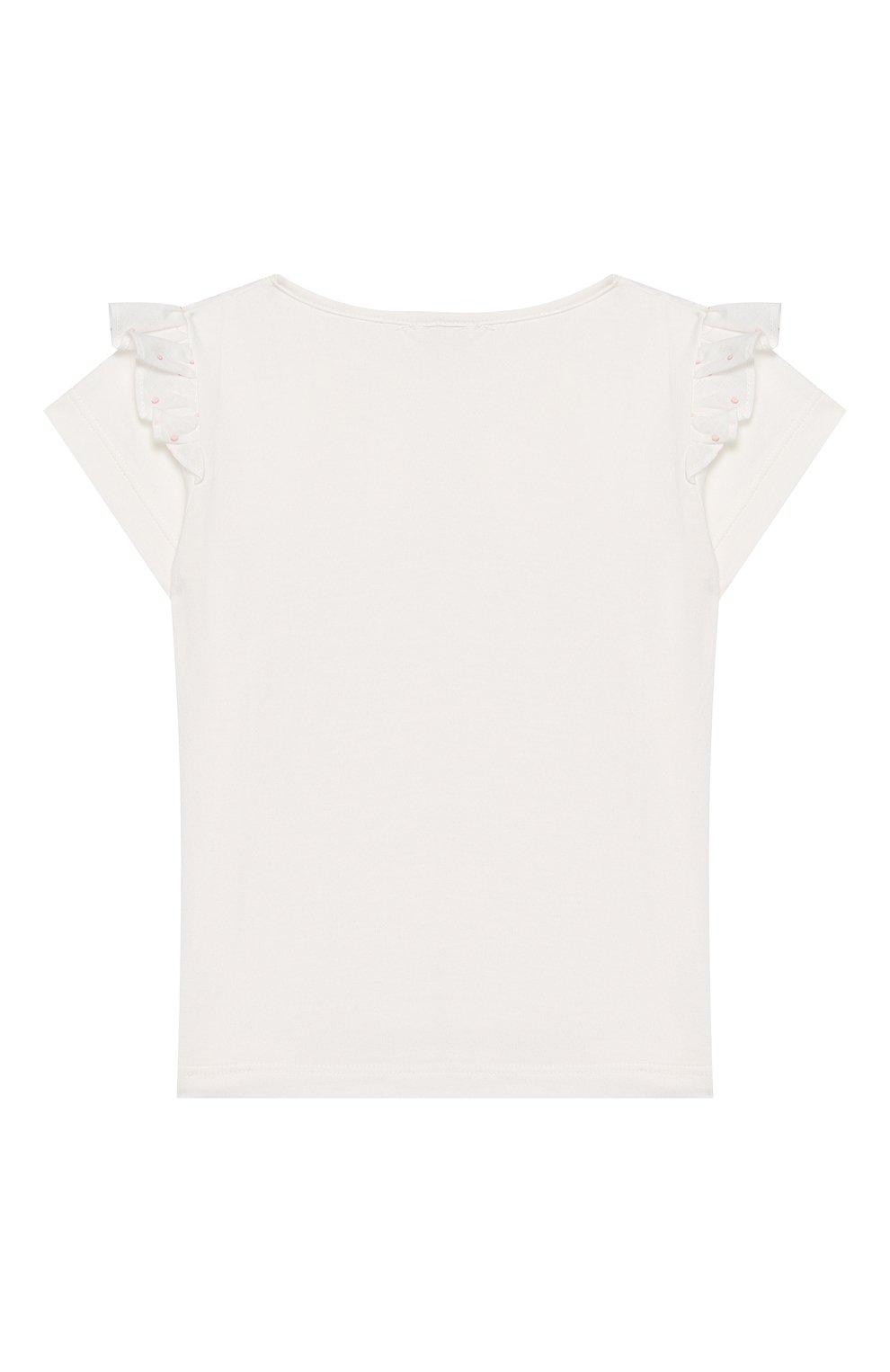 Детский топ ALETTA белого цвета, арт. RW00270B/3A-8A | Фото 2