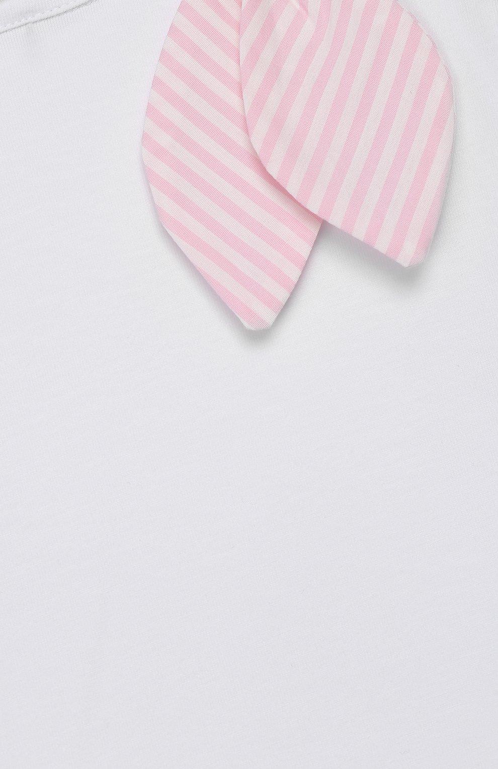Детский топ ALETTA белого цвета, арт. RW00270B/3A-8A | Фото 3