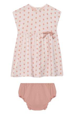 Женский комплект из платья и шорт ALETTA розового цвета, арт. RW00744/1M-2A | Фото 1