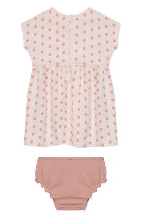 Женский комплект из платья и шорт ALETTA розового цвета, арт. RW00744/1M-2A | Фото 2