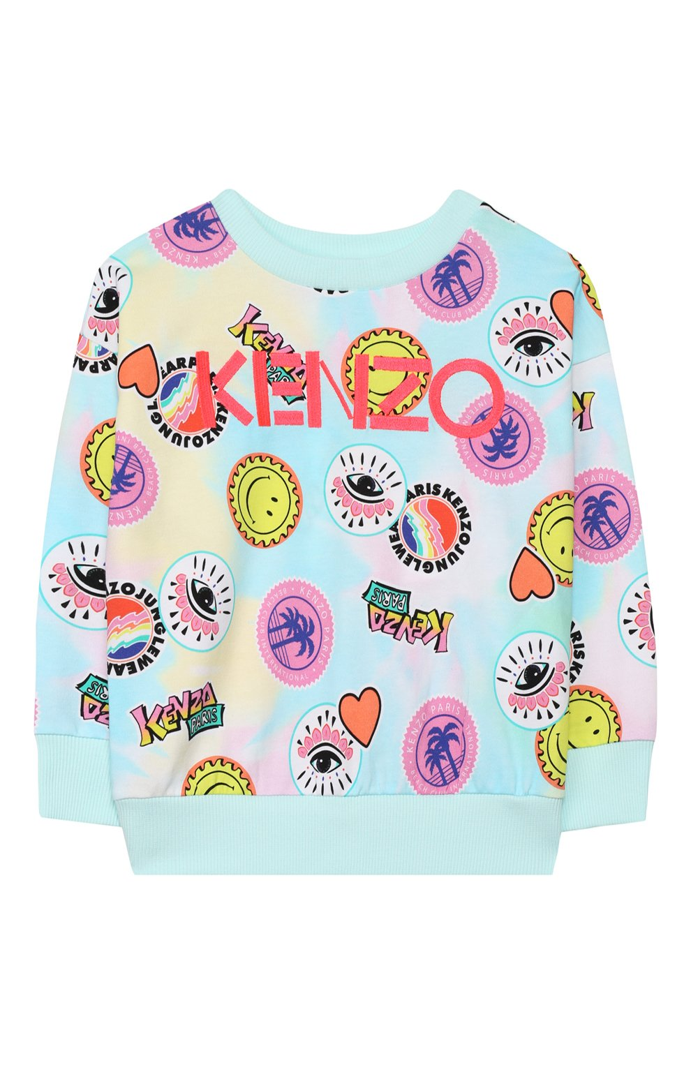 Детский хлопковый свитшот KENZO разноцветного цвета, арт. KQ15008   Фото 1