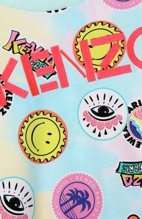 Детский хлопковый свитшот KENZO разноцветного цвета, арт. KQ15008   Фото 3