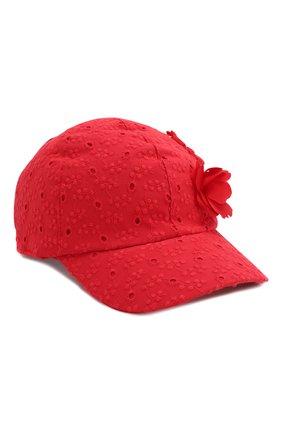 Детская бейсболка MONNALISA красного цвета, арт. 175008 | Фото 1