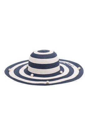 Детская шляпа MONNALISA синего цвета, арт. 995032 | Фото 1