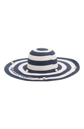 Детская шляпа MONNALISA синего цвета, арт. 995032 | Фото 2