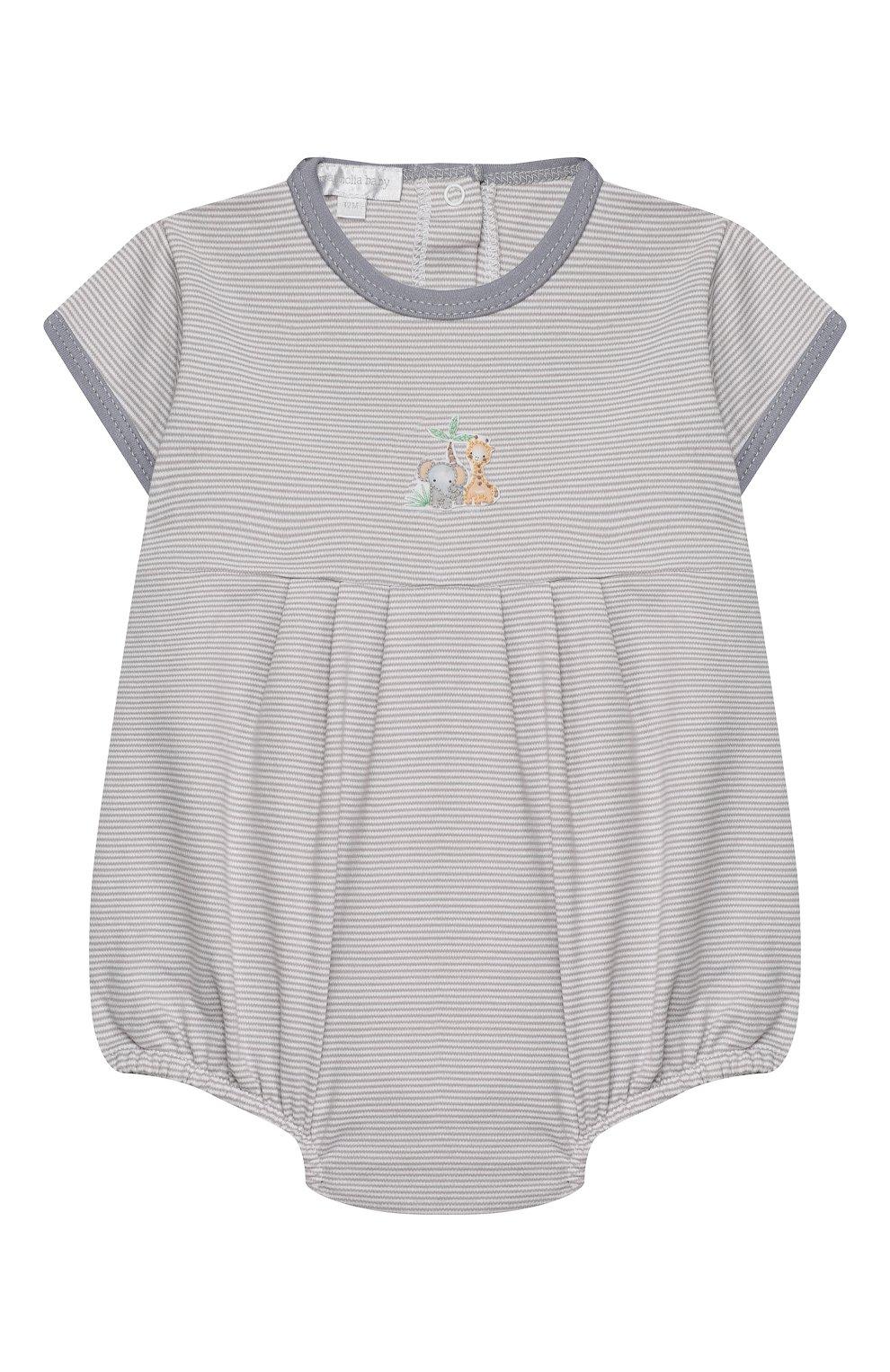 Детское хлопковый песочник MAGNOLIA BABY серого цвета, арт. 649-225-SV | Фото 1