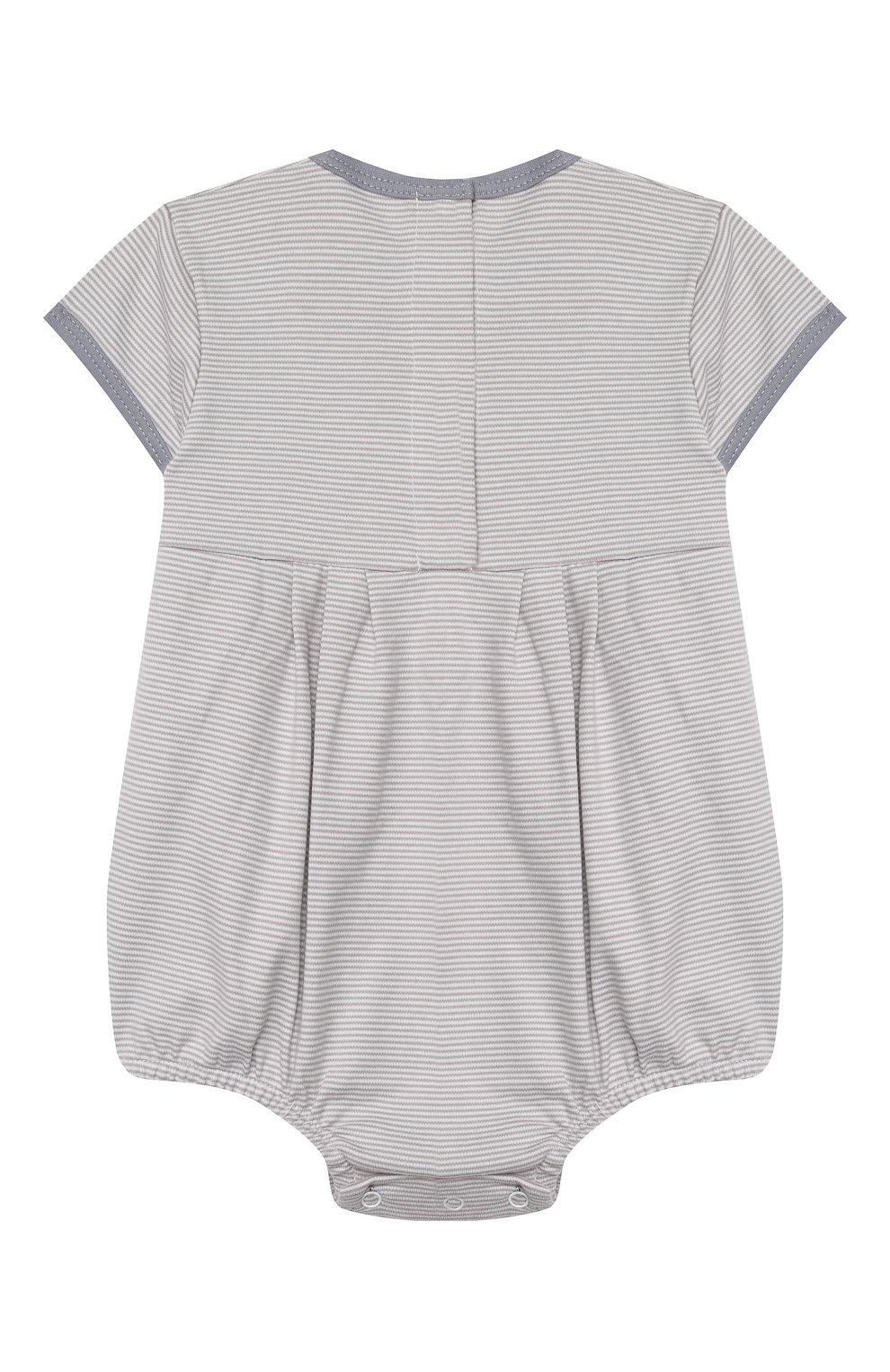 Детское хлопковый песочник MAGNOLIA BABY серого цвета, арт. 649-225-SV | Фото 2