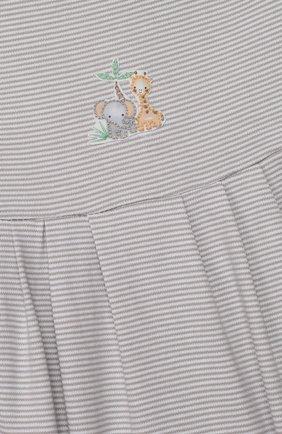 Детское хлопковый песочник MAGNOLIA BABY серого цвета, арт. 649-225-SV | Фото 3