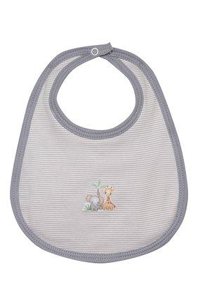 Детский нагрудник MAGNOLIA BABY серого цвета, арт. 649-51-SV | Фото 1