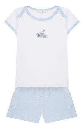 Детский комплект из топа и шорт MAGNOLIA BABY голубого цвета, арт. 649-102-LB | Фото 1