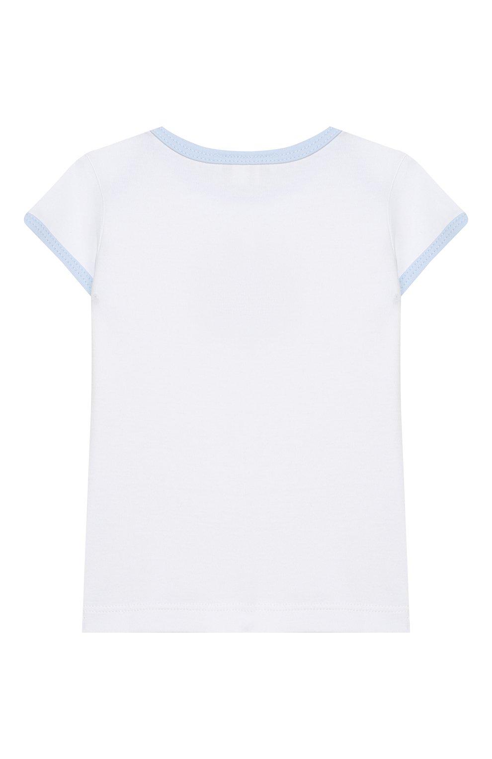 Детский комплект из топа и шорт MAGNOLIA BABY голубого цвета, арт. 649-102-LB | Фото 3 (Рукава: Короткие; Материал внешний: Хлопок)