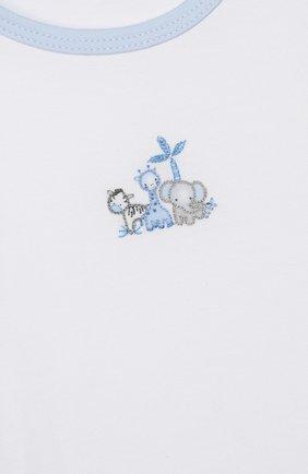 Детский комплект из топа и шорт MAGNOLIA BABY голубого цвета, арт. 649-102-LB | Фото 6 (Рукава: Короткие; Материал внешний: Хлопок)