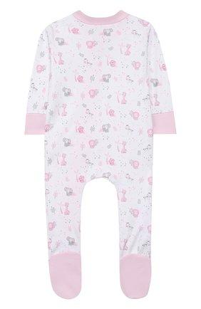 Детский хлопковый комбинезон MAGNOLIA BABY розового цвета, арт. 649-428P-PK | Фото 2