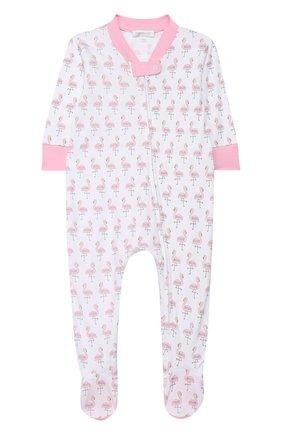 Детский хлопковый комбинезон MAGNOLIA BABY розового цвета, арт. 891-428P-PK | Фото 1