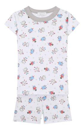 Детский хлопковая пижама MAGNOLIA BABY голубого цвета, арт. 896-SP-LB | Фото 1