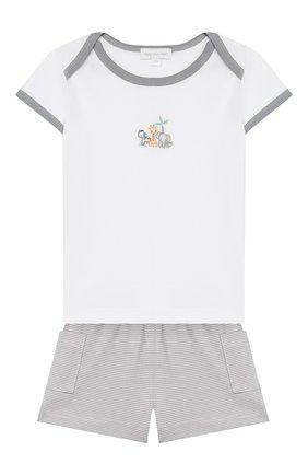 Детский хлопковая пижама MAGNOLIA BABY серого цвета, арт. 649-102-SV | Фото 1