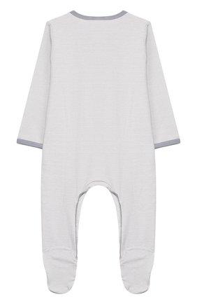 Детский хлопковый комбинезон MAGNOLIA BABY серого цвета, арт. 649-402-SV | Фото 2