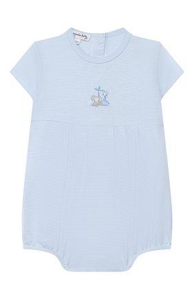 Детское хлопковый песочник MAGNOLIA BABY голубого цвета, арт. 649-225-LB | Фото 1
