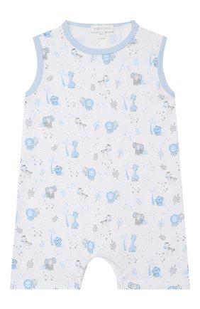 Детское хлопковый песочник MAGNOLIA BABY голубого цвета, арт. 649-976P-LB | Фото 1