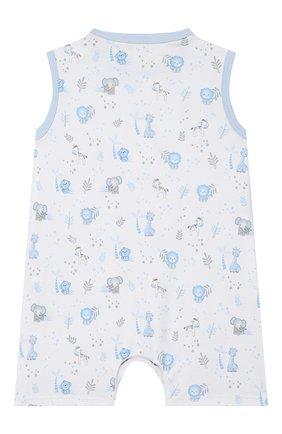 Детское хлопковый песочник MAGNOLIA BABY голубого цвета, арт. 649-976P-LB | Фото 2