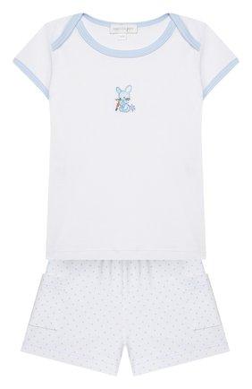 Детский комплект из топа и шорт MAGNOLIA BABY голубого цвета, арт. 755-102-LB | Фото 1
