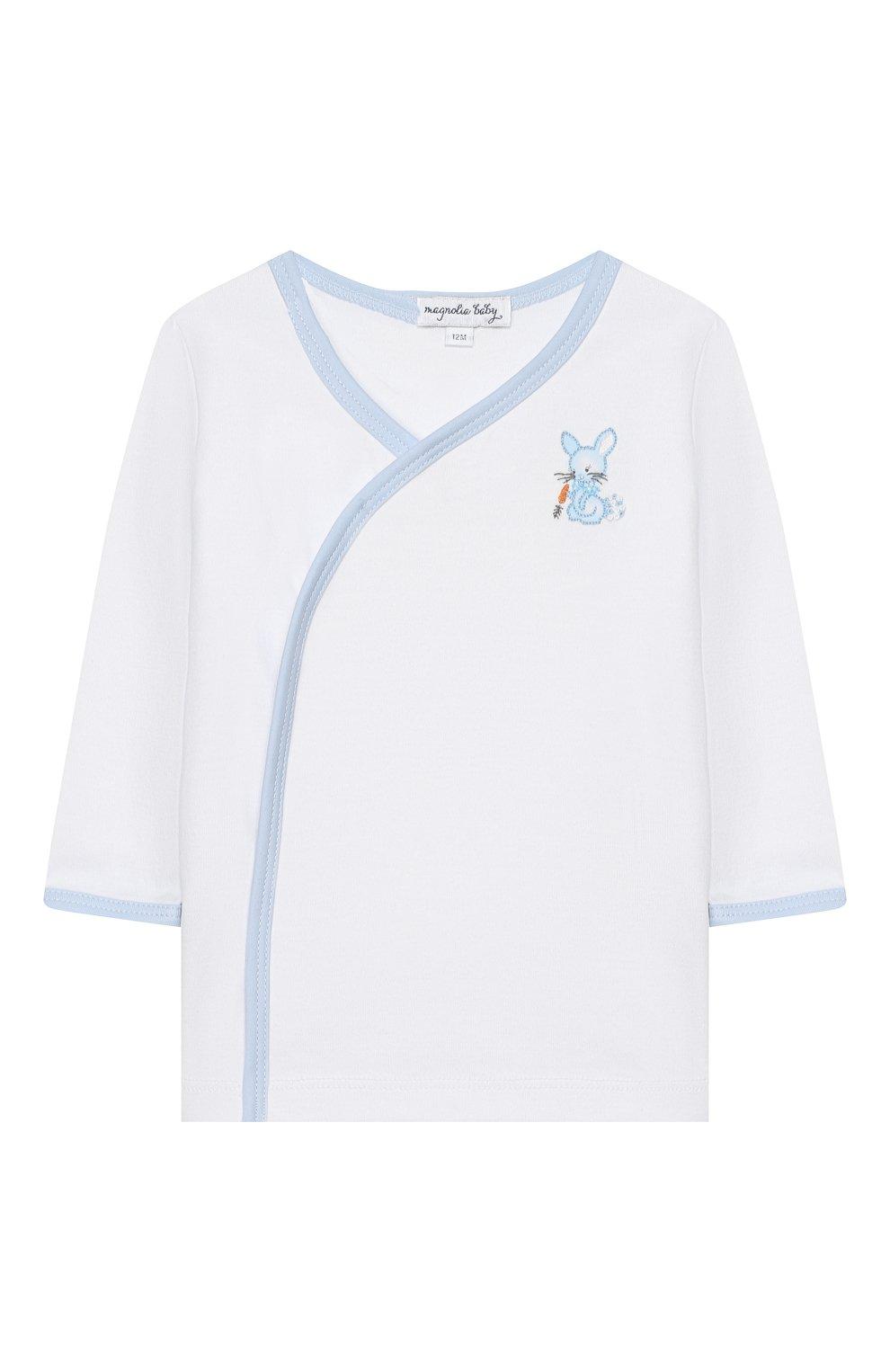 Детский комплект из распашонки и ползунков MAGNOLIA BABY голубого цвета, арт. 755-734P-LB | Фото 2