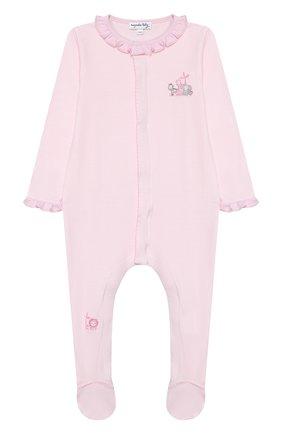 Детский хлопковый комбинезон MAGNOLIA BABY розового цвета, арт. 649-410-PK | Фото 1