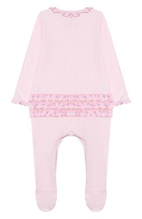 Детский хлопковый комбинезон MAGNOLIA BABY розового цвета, арт. 649-410-PK | Фото 2