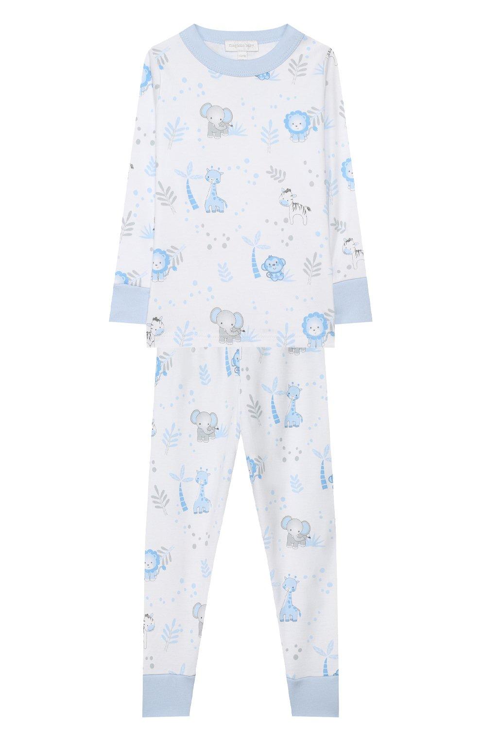 Детский хлопковая пижама MAGNOLIA BABY голубого цвета, арт. 649-LP-LB | Фото 1