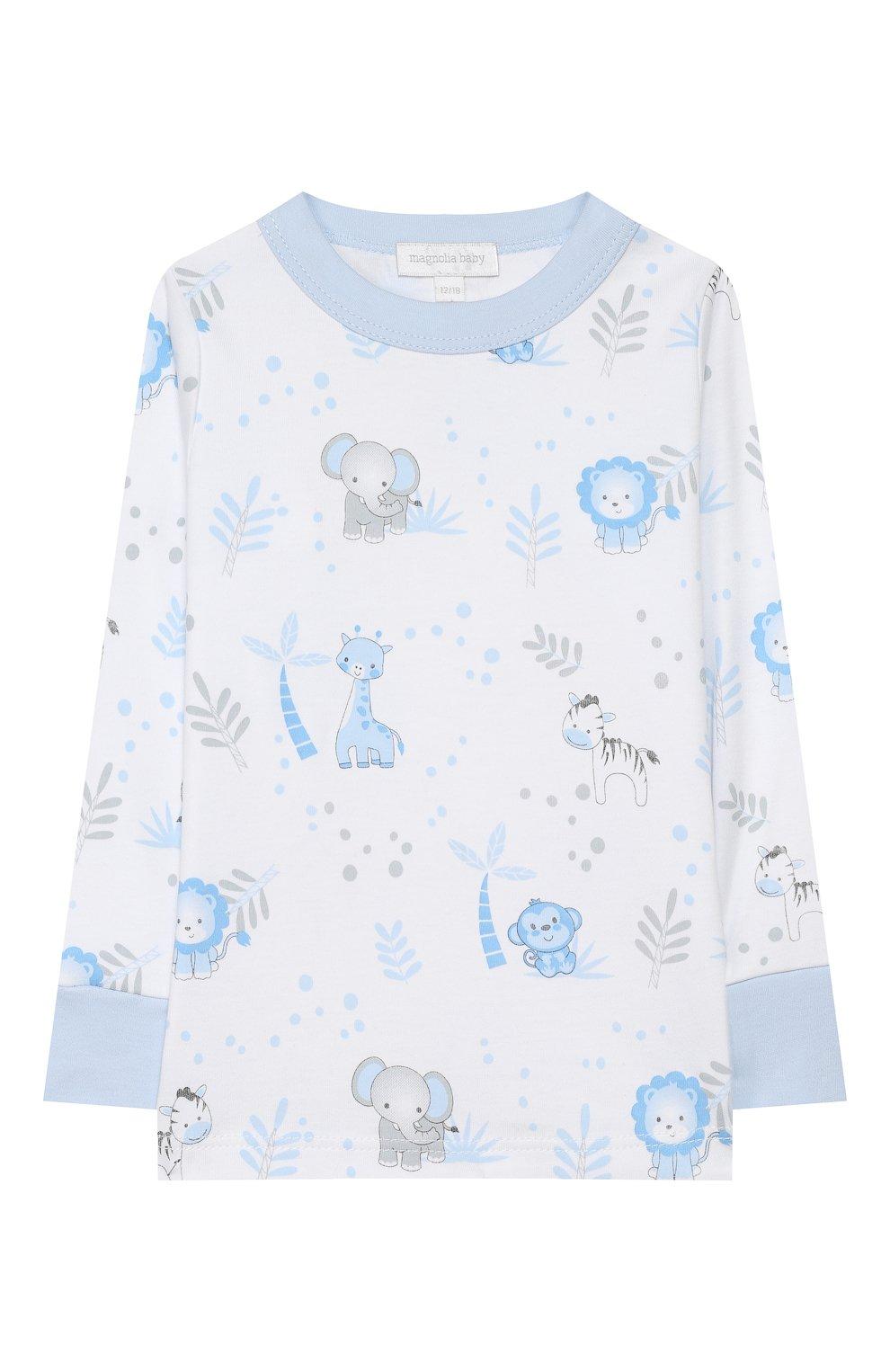 Детский хлопковая пижама MAGNOLIA BABY голубого цвета, арт. 649-LP-LB | Фото 2