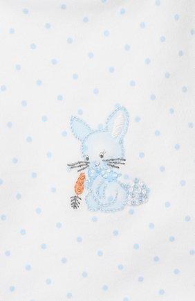 Детский нагрудник MAGNOLIA BABY голубого цвета, арт. 755-51-LB   Фото 3 (Материал: Текстиль, Хлопок)