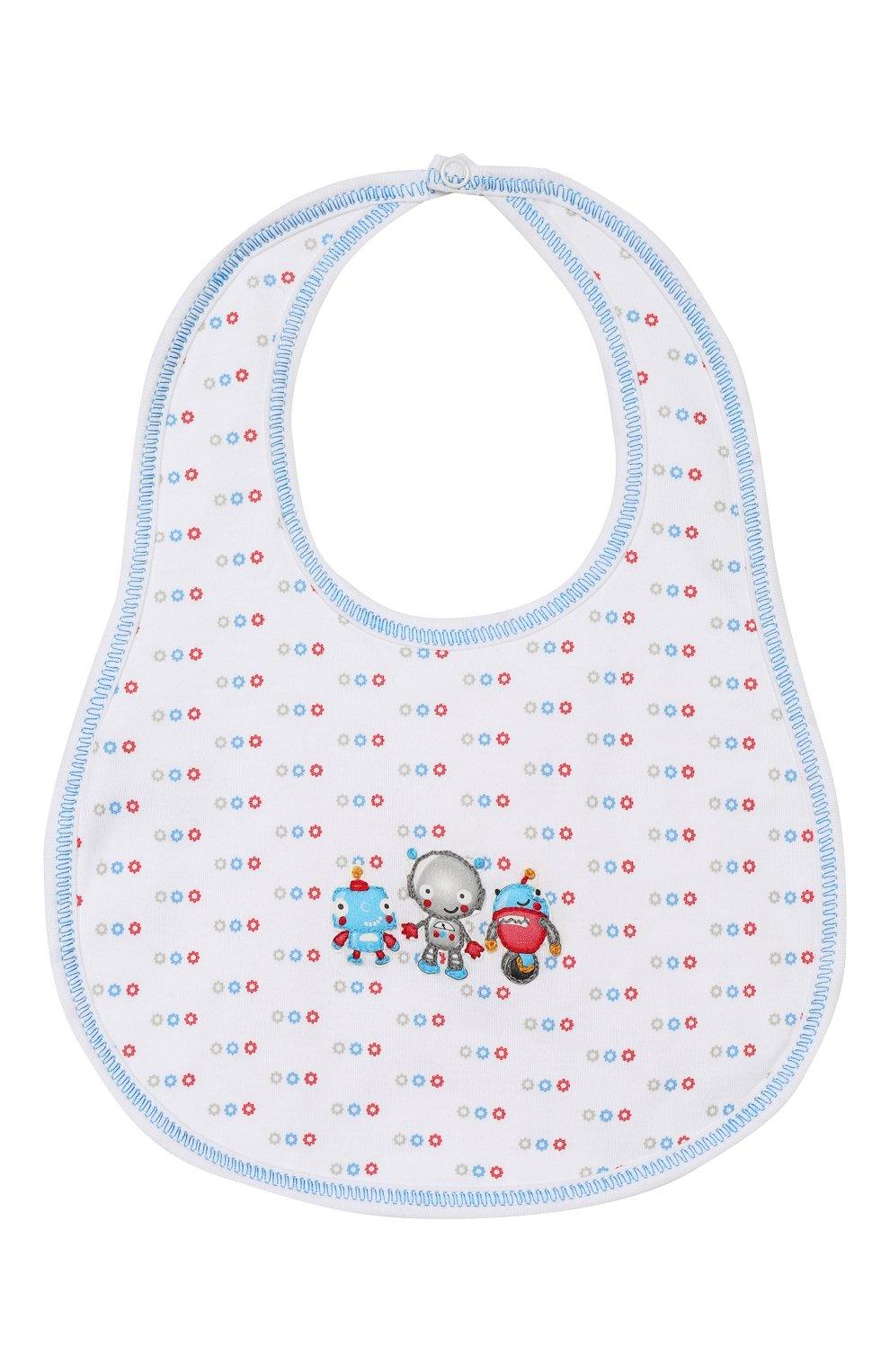 Детский нагрудник MAGNOLIA BABY голубого цвета, арт. 896-51-LB | Фото 1 (Материал: Текстиль, Хлопок)