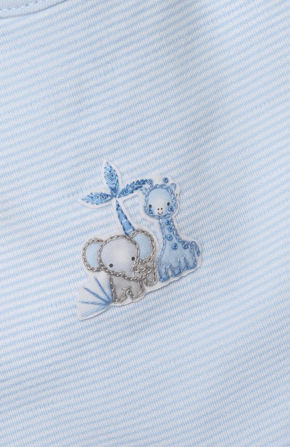 Детский нагрудник MAGNOLIA BABY голубого цвета, арт. 649-51-LB | Фото 3 (Материал: Текстиль, Хлопок)